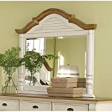 Coaster Home Furnishings 202884 Country Mirror, Oak and Buttermilk
