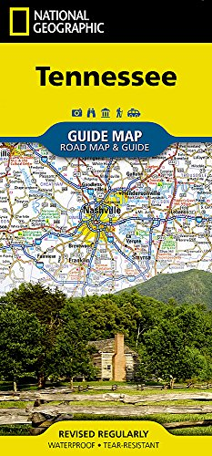 Tennessee (National Geographic Guide Map)