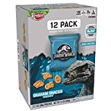 Keebler Graham Snacks Jurassic World (Honey, 1-Ounce Pouches, 12 Count Box)(Pack of 4)(packaging may vary)