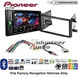 Volunteer Audio Pioneer AVH-201EX Double Din Radio Install Kit with CD Player Bluetooth USB/AUX Fits 2009-2013 Subaru Forester, 2008-2011 Subaru Impreza