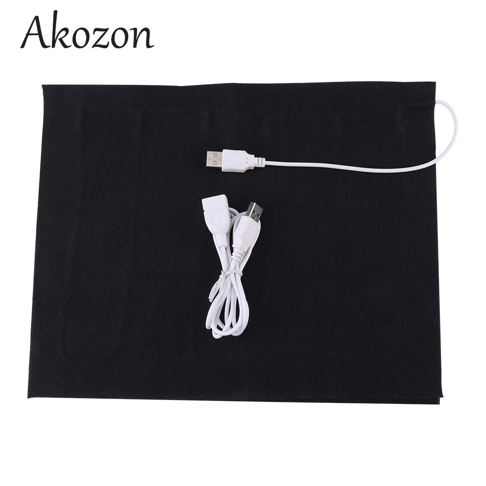 Akozon 1pc 5V USB Electric Cloth Heater Pad Heating Element for Clothes Seat Pet Warmer 35℃-50℃