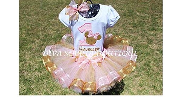 Candy Land Minnie Mouse Boss Baby ribbon tutu set