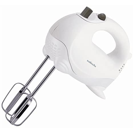 Sabichi White Electric Hand Mixer 5 Speed 100W Food Dough Whisk Beater Hand Mixers at amazon