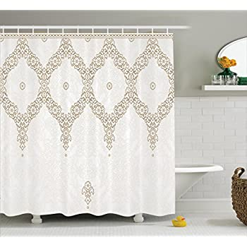 Amazon.com: Moroccan Decor Extra Long Shower Curtain by Ambesonne ...