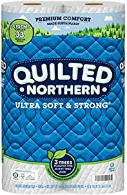 Quilted Northern Ultra Soft & Strong Toilet Paper, 24 Supreme Rolls, 340 2-Ply Sheets Per