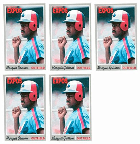 ((5) 1992 Baseball Card Monthly #72 Marquis Grissom Baseball Card Lot Expos)