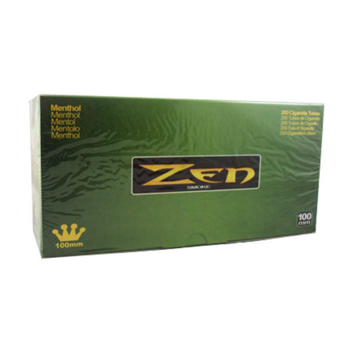 Zen Menthol 100mm Cigarette Tubes (200 Ct/box) ONE CASE =50 Boxes
