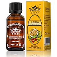 Natural Plant Lymphatic Drainage Ginger Oils,Natural Anti Aging Oil Body Massage 100% PURE Natural 30ml