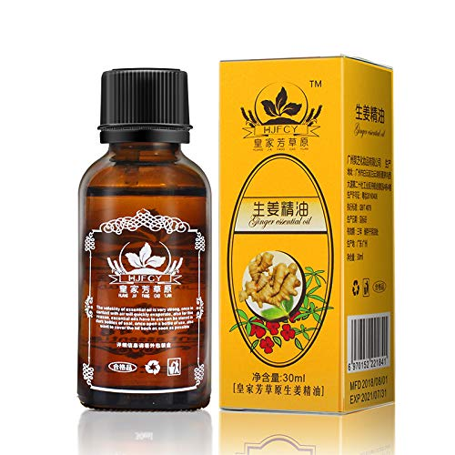 Natural Plant Lymphatic Drainage Ginger Essential Oils,Natural Anti Aging Essential Oil Body Massage 100% PURE Natural 30ml