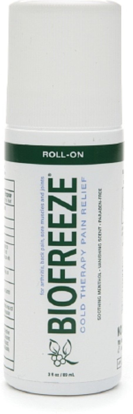 Biofreeze Cold Therapy Pain Relief, Roll-On 3 oz (Pack of 12)
