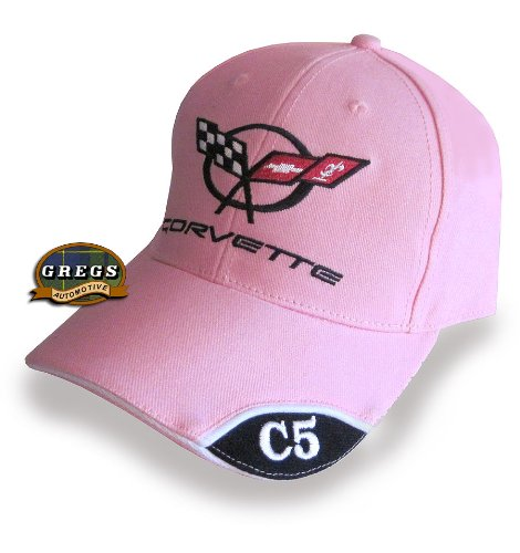 Gregs Automotive Corvette C5 Hat Cap in Pink Bundle with Driving Style Decal