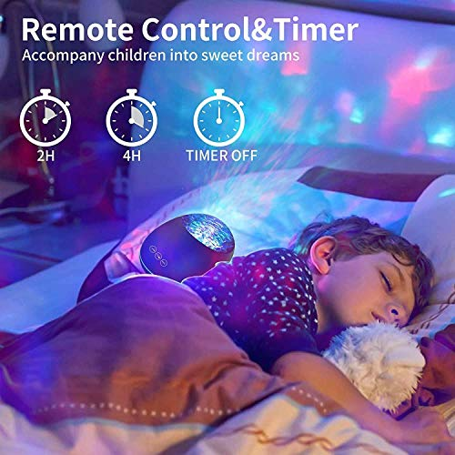 Aisuo Night Light Projector, HiFi Speaker with 8 Fan Non-Looping Music, Sleep Timer & Remote Control, Support TF Card and Aux Line, Ideal Gift Choice for Friends, Children.
