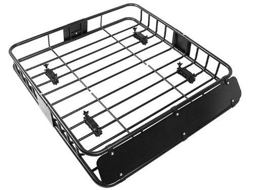 TMS %RoofTopRack-NS-TR001 Black Cargo Roof Rack (Car Top Luggage Holder Carrier Basket Travel SUV)