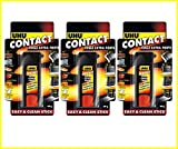 3 x UHU Contact Power Glue Solid Stick Extra-strong Transparent Waterproof - 20g