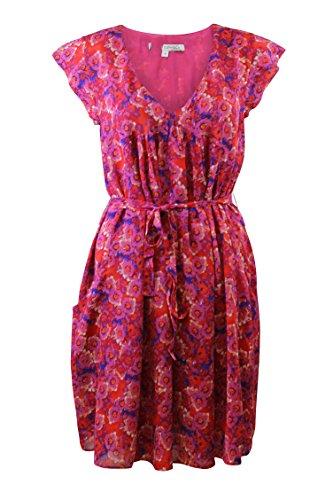Generic Damen Empire Kleid rosa rose 34-44