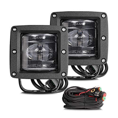 (SAE Fog Lights LED Pods Teochew-LED 2 Pack 40W 3 Inch Cube Lights LED Light Pods SAE/DOT Approved LED Driving Light OSRAM Off Road Light Bar for Trucks, Jeep, Tractors, ATV, UTV, 2 Years Warranty)