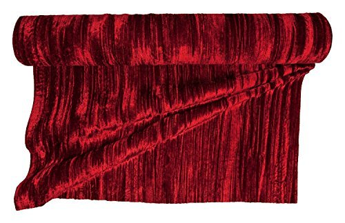 Wine Red Christmas Crushed Velvet Fabric Ribbon, 58