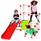 Lil' Monkey Jungle Gym - Everest Climb N Slide Playground - Monkey Bars & Dome Climber for Kids - Folds Within Less Than One Minute - Indoor and Outdoor activity