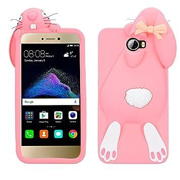 HuaWei Y5 II Rabbit Funda, Vandot Cubierta en forma de Conejo 3D Patrón Protectiva Carcasa de Suave Silicona Gel TPU Estrecha Case Cover para Móvil ...