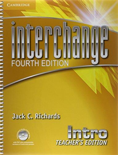 Interchange Intro Teacher's Edition with Assessment Audio CD/CD-ROM (Interchange Fourth Edition)