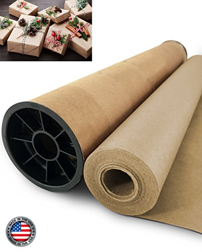 Kraft Paper Jumbo Roll with Durable Carry Tube | Made in USA