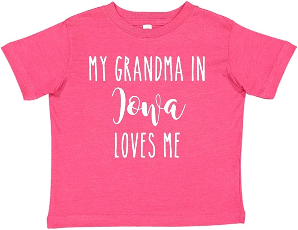 My Grandma in Iowa Loves Me Toddler//Kids Short Sleeve T-Shirt