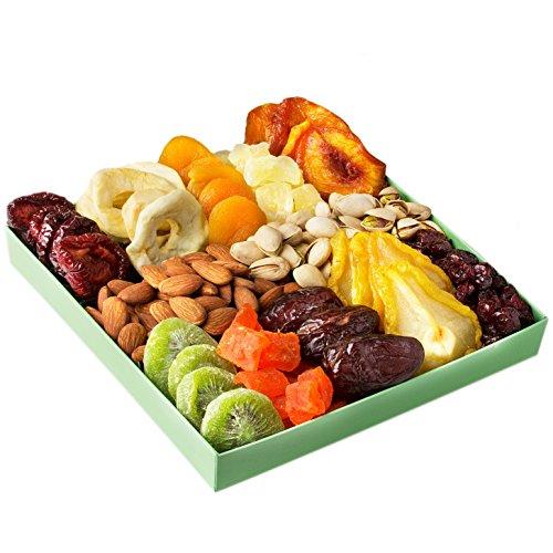 Buy Holiday Nut Dried Fruit Gift Basket - Healthy Gourmet Food ...