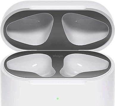 elago Dust Guard el Polvo Guardia Compatible con Apple AirPods 2 Estuche de Carga inalámbrica [Chapado en Cromo] [Proteger del Hierro y Las virutas de Metal]: Amazon.es: Electrónica