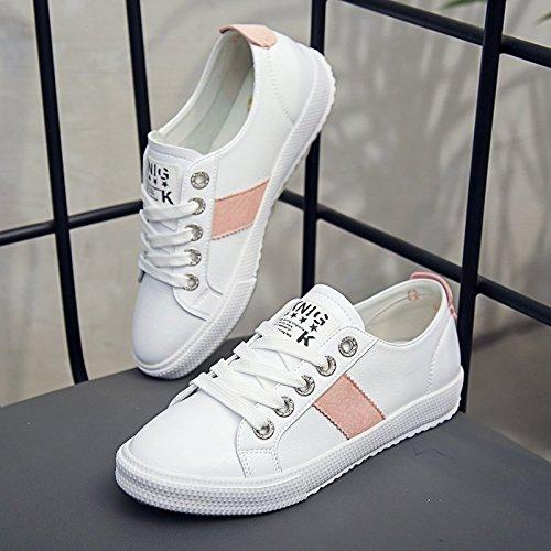 HBDLH Damenschuhe Schuhe Herbst Studentin Schuhe Damenschuhe Spitzen Lässig Sportschuhe Flache Sohle Schuhe. f6fe3f