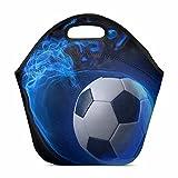 Design Lightweight Neoprene Lunch Bag Insulated Lunch Tote Bag Lunch box Custom Soccer Ball