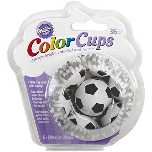 Wilton Standard Baking Cups, Soccer Color -