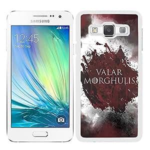 Funda carcasa para Samsung Galaxy A7 diseño juego de tronos 2 borde blanco