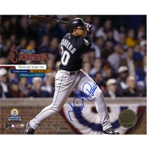 Games Cabrera Miguel (Miguel Cabrera Autographed Florida Marlins (NLCS Game 7 HR) 8x10 Photo)