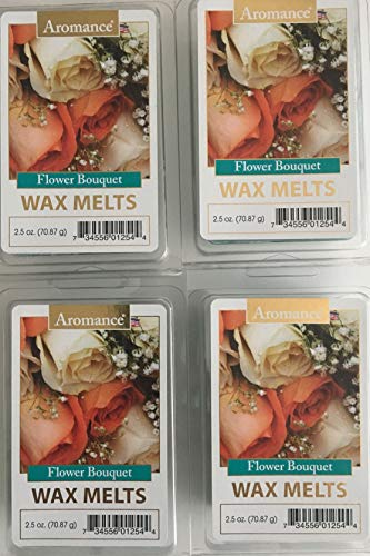 Aromance Flower Bouquet Wax Melts, Pack of 4