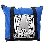 Lunarable Animal Shoulder Bag, Safari Theme Africa Wildlife, Durable with Zipper