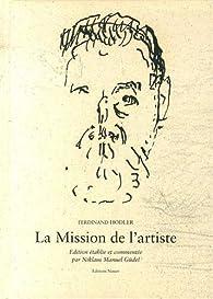 La mission de l'artiste par Ferdinand Hodler
