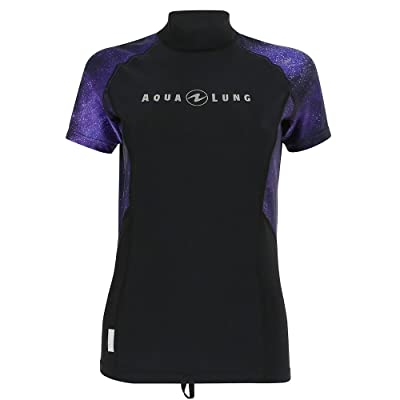 .com : Aqua Lung Women's Rashguard Short Sleeves - Galaxy Twilight : Clothing