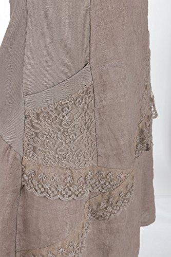 Marron Italienische Femme Boule Mode Robe 8ffgI1n