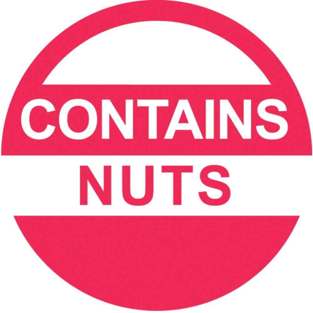 ALLERGY stickers awareness allergen contents contains nuts food sticker