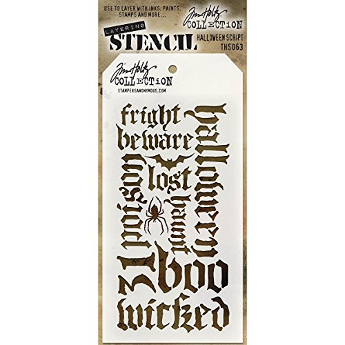 Stampers Anonymous - Tim Holtz - Halloween Script -