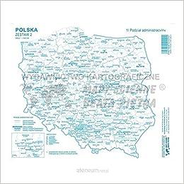 Zestaw Ii Polska Mapa Konturowa 20 Szt Ksiaĺtka Unknown