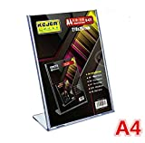 20pack of Acrylic Price Tag Advertisement Display Stand Holder A4