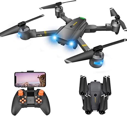 Drone with Camera - Drones with Camera for Kids, WiFi FPV Drone w/ 3P HD Camera/Voice & APP Control/Trajectory Flight/Altitude Hold/Gravity Sensor, ...