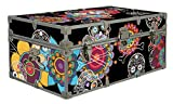 Halloween Decoration Storage Footlocker Trunk - Day of the Dead - 32 x 18 x 13.5 Inches