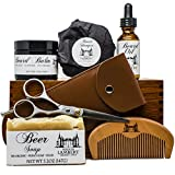 Ultimate Beard Kit Contains: Organic Beard Balm, Organic Beard Oil, Organic Beard Shampoo, Wood Beard Comb, Scissors and a Free Organic Body Soap. Great christmas gift