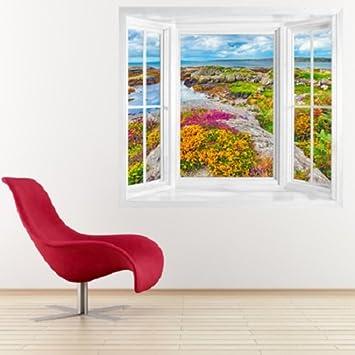 Fototapete fensterrahmen  wim194 - window view of Ireland Landschaft kerry Fototapete . Peel ...