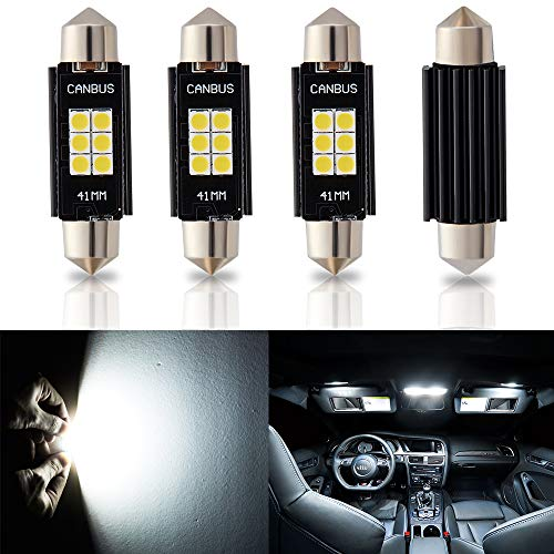 Antline 194 168 2825 T10 W5W Error Free LED Bulb, Super Bright 300 Lumens 10-SMD 5730 Chipset LED Bulbs for Interior Dome Map Door Courtesy License Plate Lights, Pack of 10