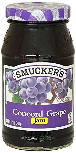 (Smucker's  Concord Grape Jam, 12 Ounce )