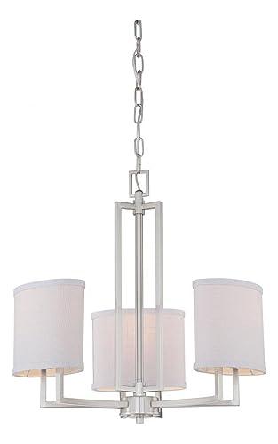 Amazon.com: Gemini – 3 lámpara de araña w/gris pizarrón ...