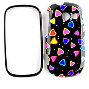 ACCESSORY HARD SNAP-ON CASE COVER FOR SAMSUNG FLIGHT II A927 MINI HEARTS ON BLACK